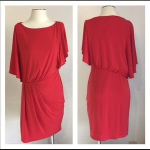 Vince Camuto Red Dress Party Dress Gathered